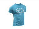 Picture of Fowl Feathers Anvil Tri-Blend T-Shirt - Heather Caribbean Blue